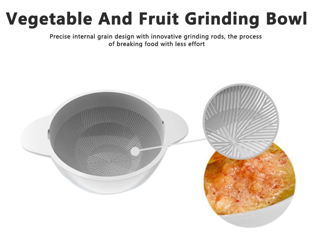 Portable Multi-functional Reusable Baby Food Blender Processor Set Maker Grinder Fruit Vegetable Meat Manual Making Homemade 4