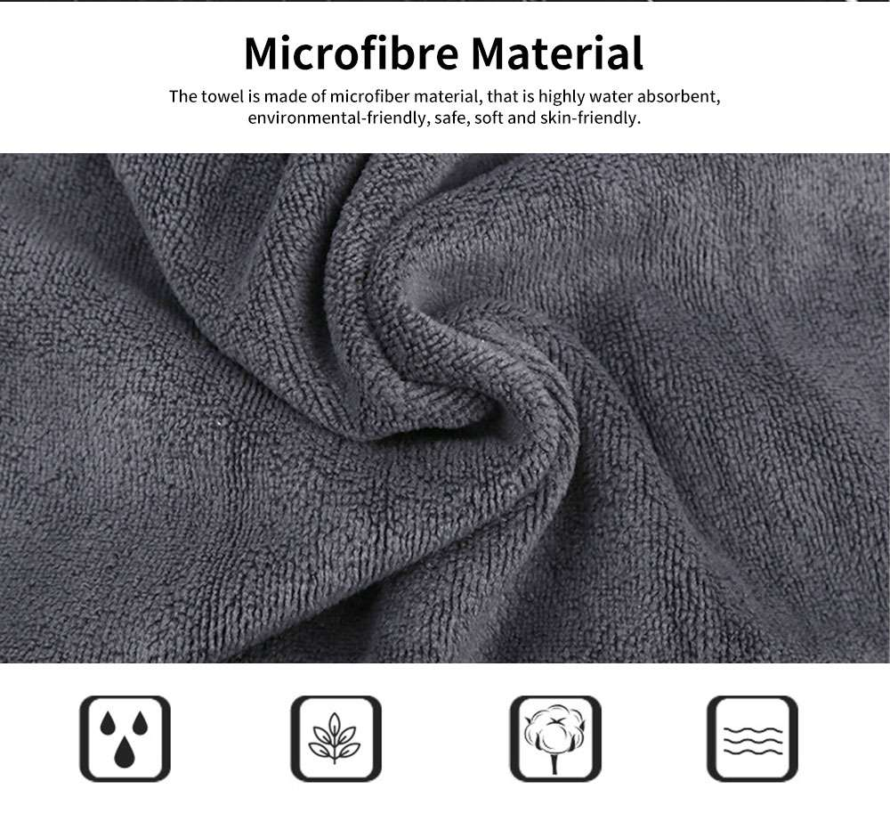 Microfibre Sports Towel High Water absorbent Quick Dry Gym Fitness Towel, One-week Black & White Facial Towel 1