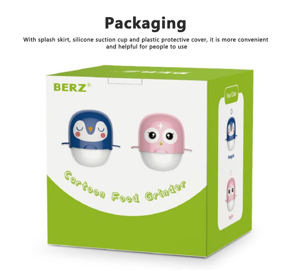 Portable Multi-functional Reusable Baby Food Blender Processor Set Maker Grinder Fruit Vegetable Meat Manual Making Homemade 6
