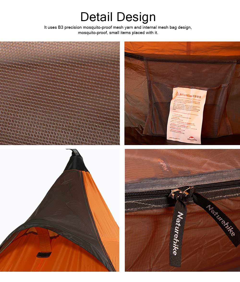 Naturehike Rain-proof Camping Tent Ultra-Light Outdoor Double-Layer Silica Single Tower Sky Tent 6