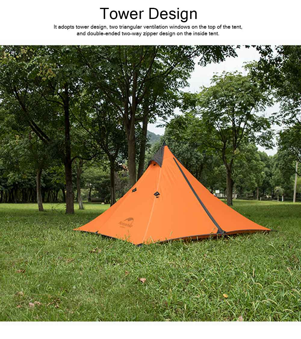 Naturehike Rain-proof Camping Tent Ultra-Light Outdoor Double-Layer Silica Single Tower Sky Tent 10