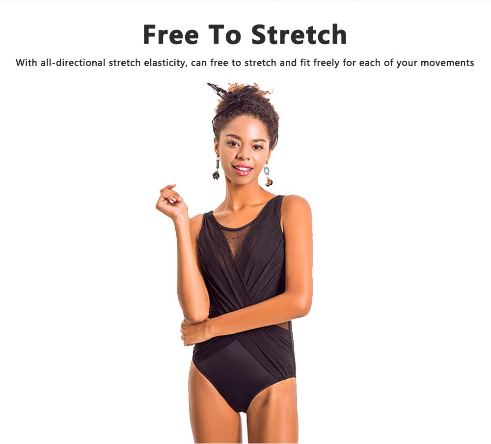 Fashionable Sexy One Piece Swimsuit Bathing Women Swimwear, Siamese Triangle Solid Color Slim Slimming Belly Suit 6 Colors Option 2
