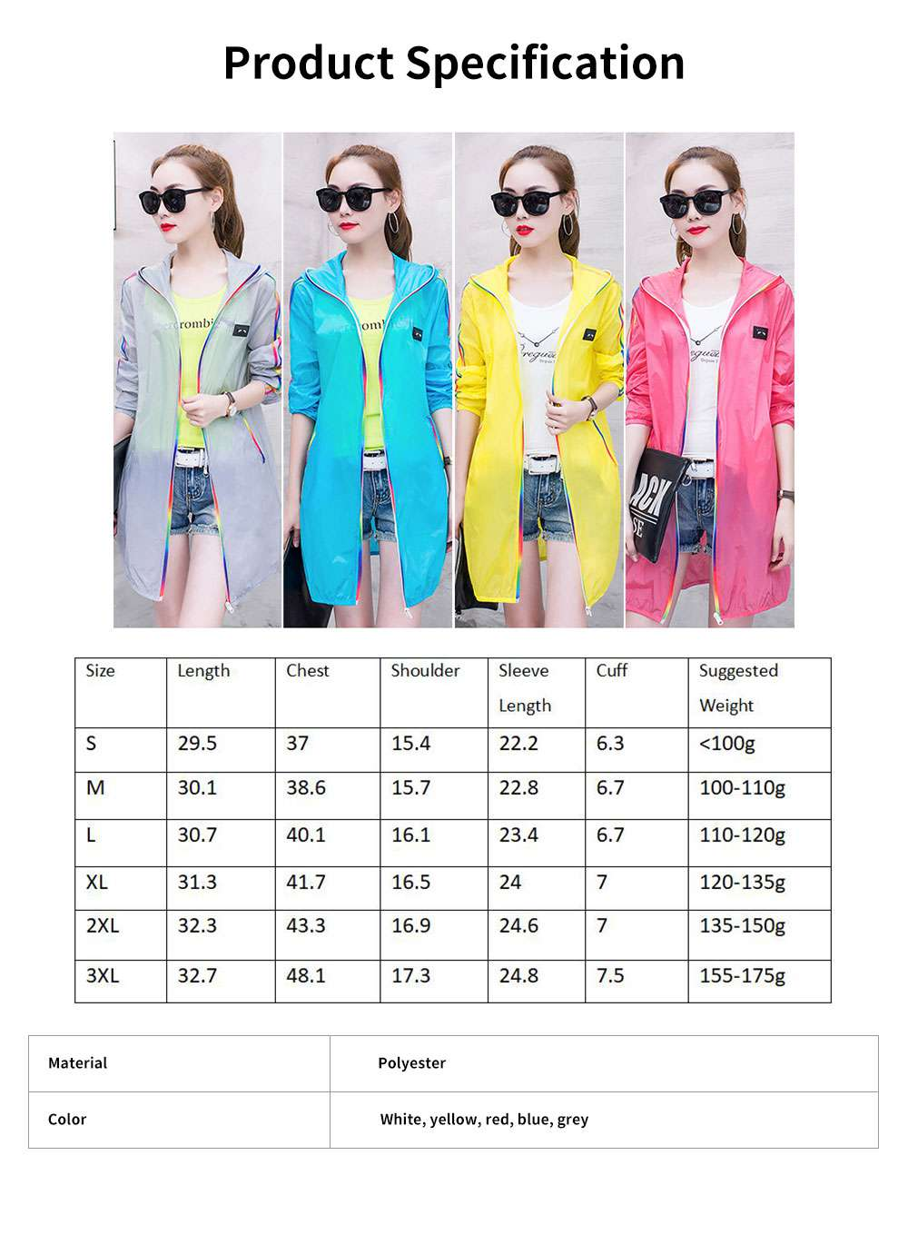 Summer Sun-proof Coat for Women, Mid-Long Beach Outwear Thin Breathable Cardigan for Sun Coat 6