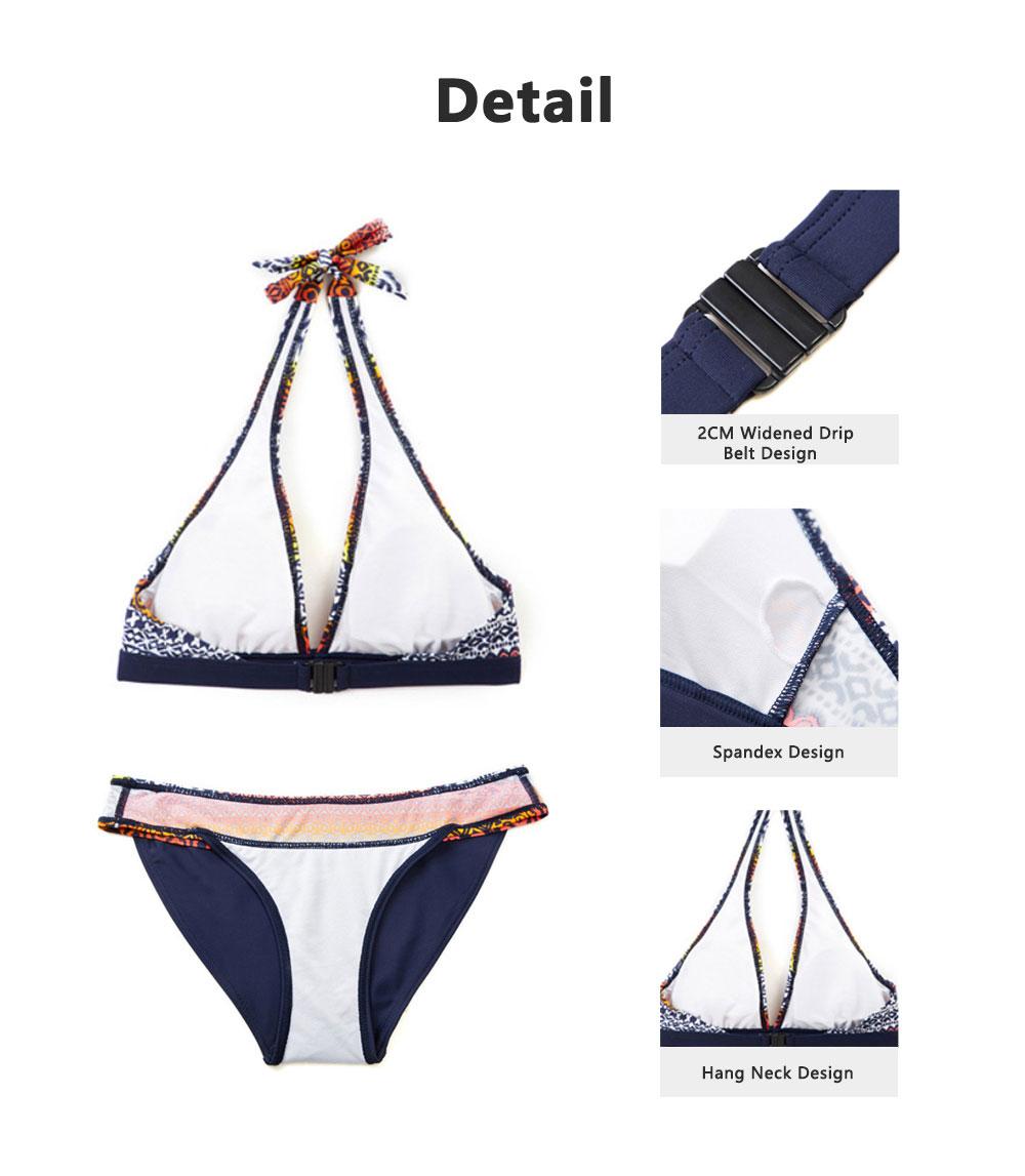 High Quality Best Selling Women Openwork Swimwear Behind Split Bikini Ethnic Flower Digital Print Two Pieces Ladies Swimsuit 3