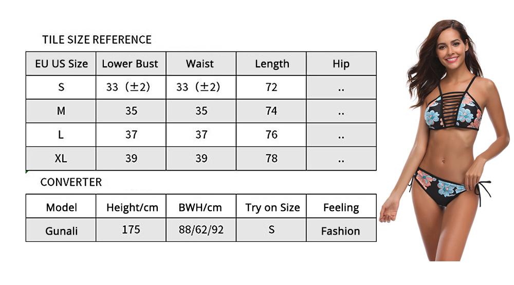 Women Bikini with Retro Halter Neck, Two Piece Swimsuit with Adjustable Bottom Tie Stylish Bikini 8