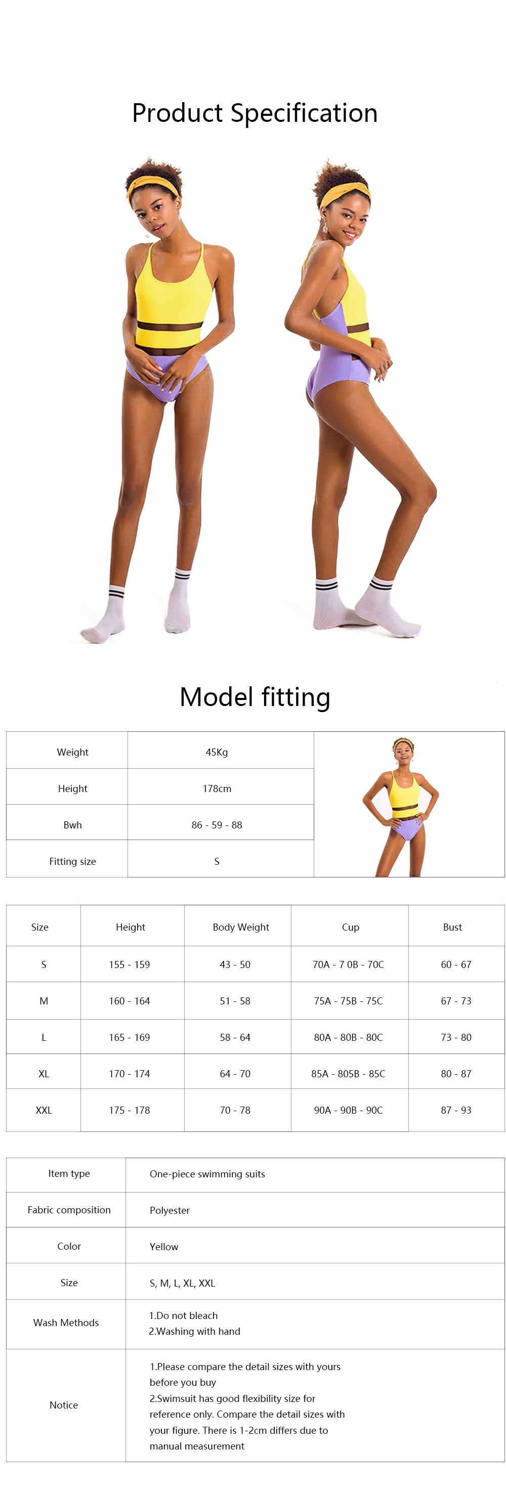 Swimming Suit with Simple Contrast Color Gauze Patch Piece, One-Piece Swimsuit Triangle Lady Swimsuit, Round Neck Bathing Suits for Women 5