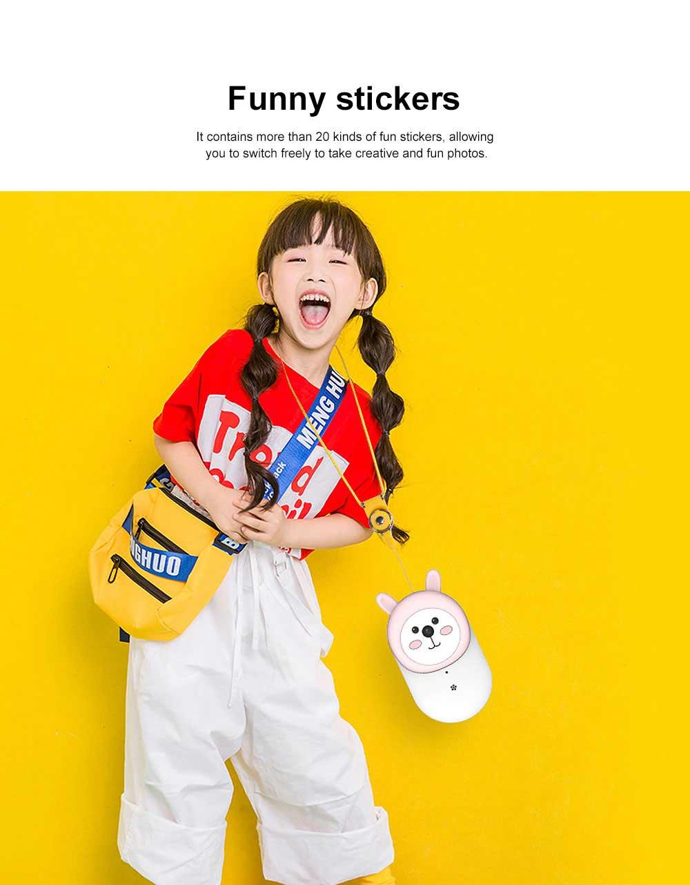 Cute Rabbit Magic Eyes Childrens' Wifi HD Camera 2.4 Inch Wifi-Connected New 2 Lens 800W HD Kids Camera 3
