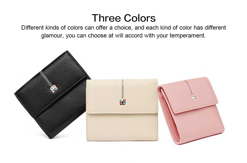 2019 New Designed Women Purse New Designed INS Purse Short-style Fresh Folding Purse for Women Lady Girl 4