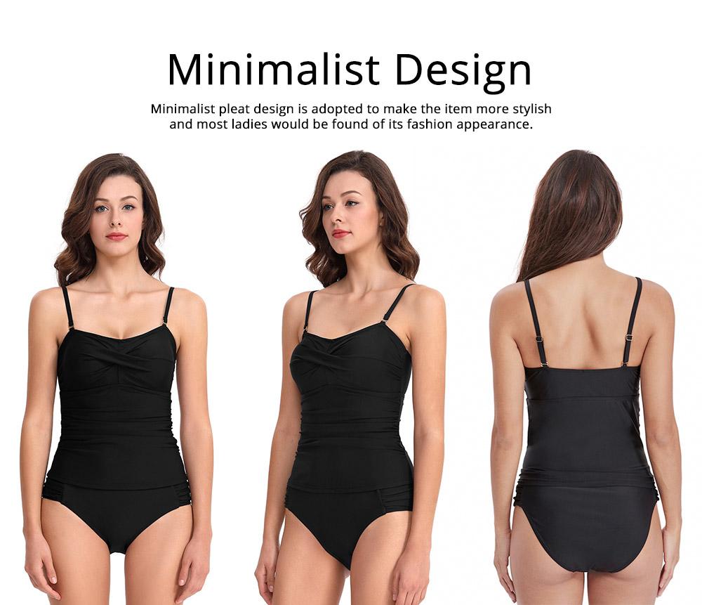 Minimalist Stylish Pure Color Slim Fit Ladies Separates Swimwear Smooth Soft Quick Dry Swimsuit Bikini for Women 5