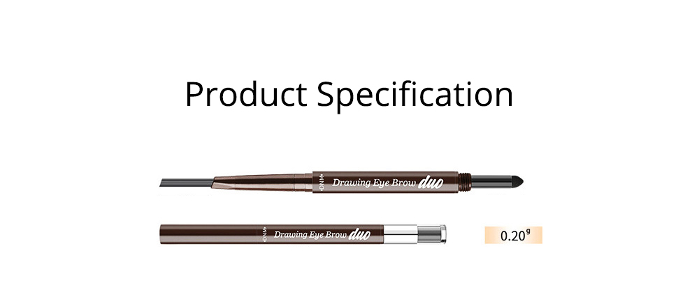 2 In 1 Eyebrow Pencil And Eyebrow Powder, Eyebrow Pencil Powder With Automatic Rotation Waterproof And Sweat-proof 6
