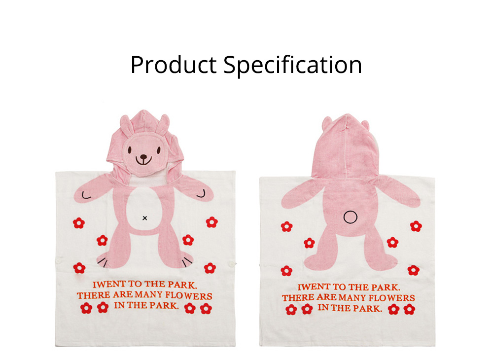 Cartoon Towel for Baby Reactive Dyeing Car Line Neat Bath Product No Odor Soft Comfortable Children's Cloak 7