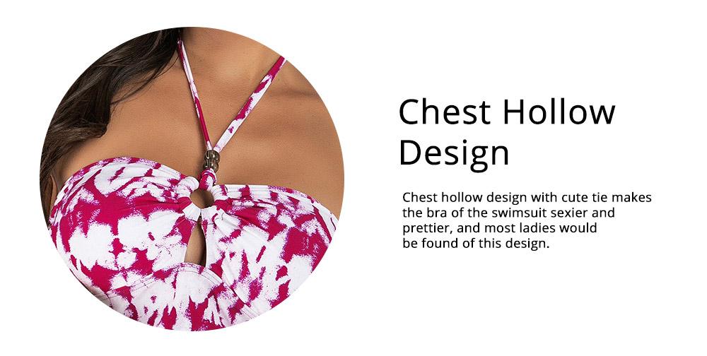 Fancy Sexy Painting Separates Adjustable Strap Swimsuit Bikini Stylish Triangle Swim Briefs Ladies Bikini 3