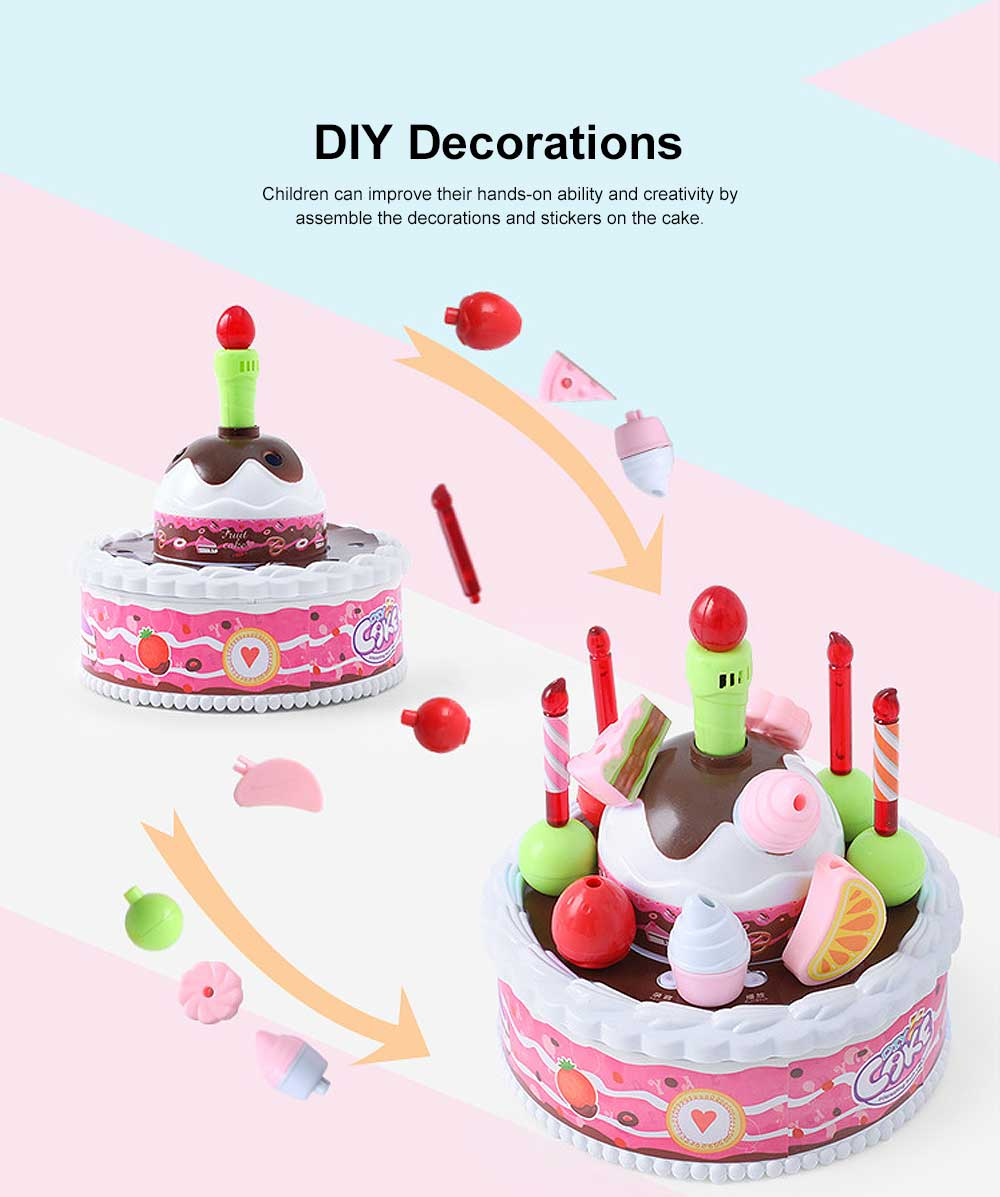 Birthday Cake Toy for Children & Kids, DIY Birthday Cake Model with Sound Recorder Function Birthday Present Gift 3