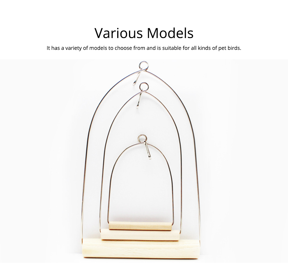 Portable Parrot Standing Habitat Frame Parrots Training Swing Frame Bird Walking Stand 5