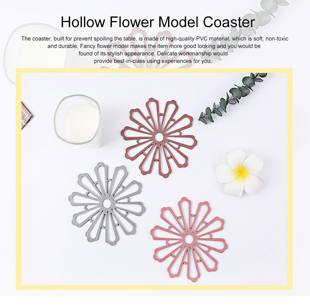 Creative Fancy Flower Model Thicken Anti-scalding Coaster, Soft Non-toxic PVC Placemat Teapot Pad Decoration 0