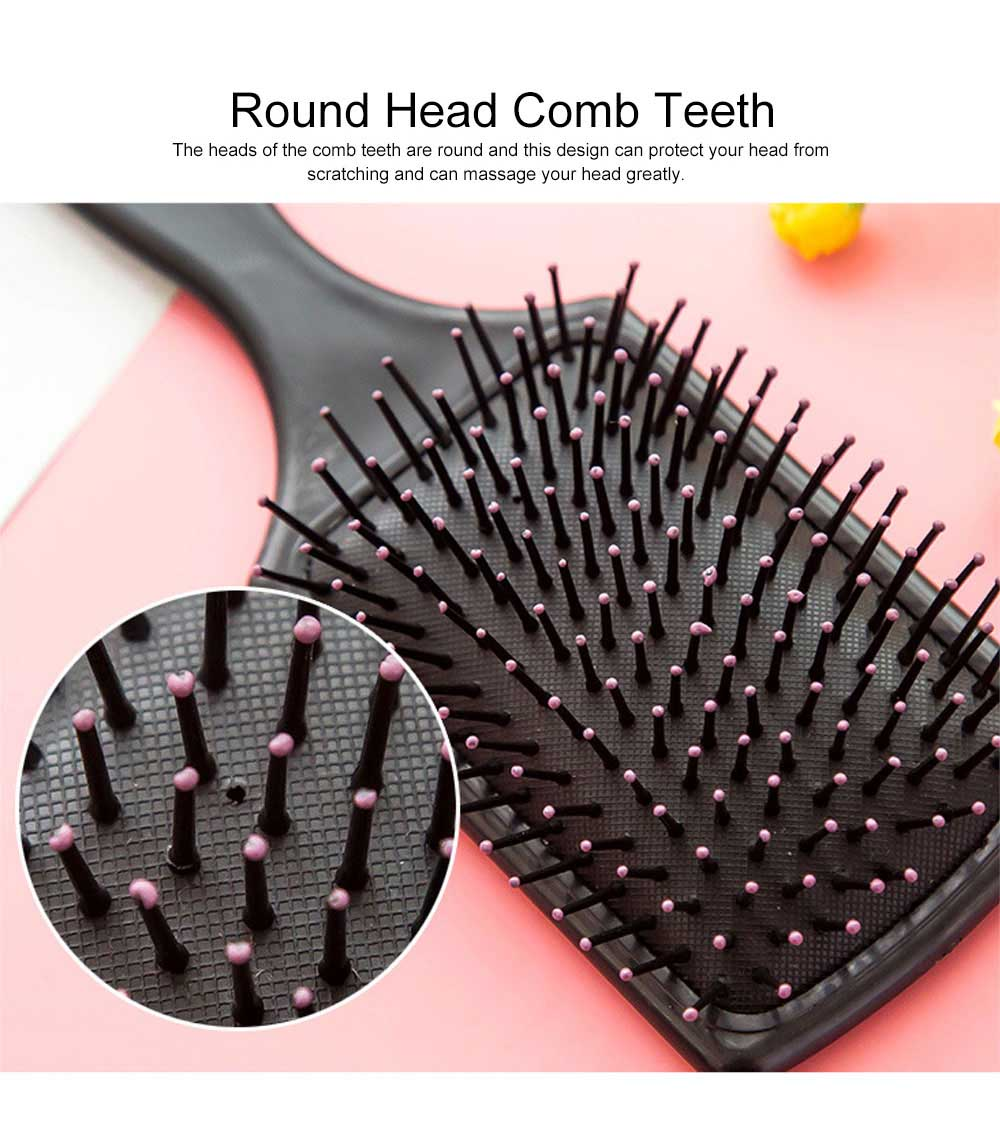 Minimalist Large Rectangle Air Cushion Massage Comb Professional Airbag Anti-static Hairbrush for Curly Hair 2