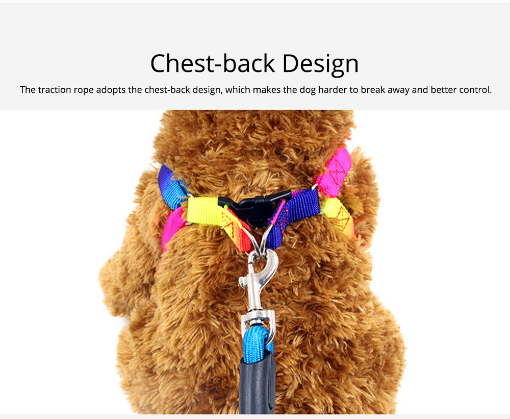 7-colour Chest Back Traction Rope For Dogs Round Dog Chain Pet Products 2