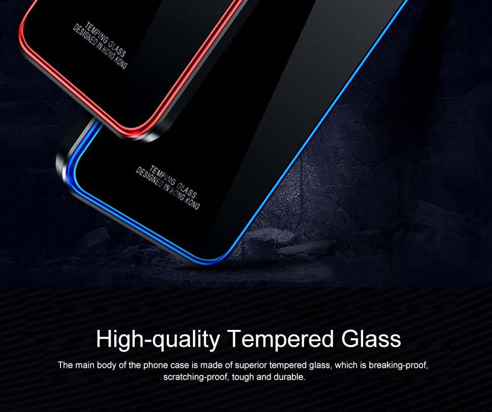 Minimalist Solid Metal Border Tempered Glass Samsung Phone Case, Breaking-proof Phone Protective Cover for Samsung Galaxy Note 9 S9 Plus 1