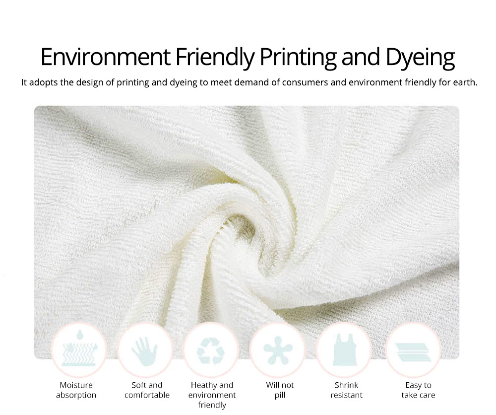 Printing and Dyeing Bath Towel for Baby, Environment Friendly Multi-function Three-dimensional Embroidery Bathroom Ware 1