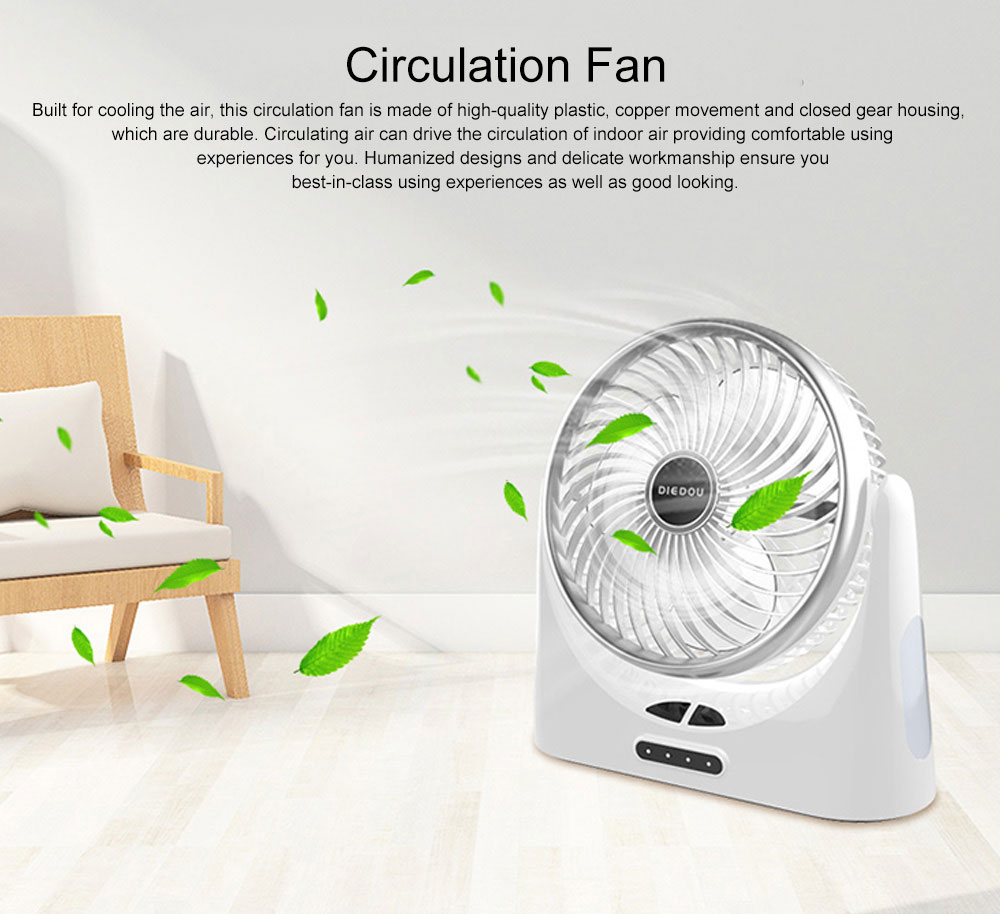 Portable Mini Chargeable Silence Table Cooling Fan Household Office Dormitory Rotation Circulation Fan 0