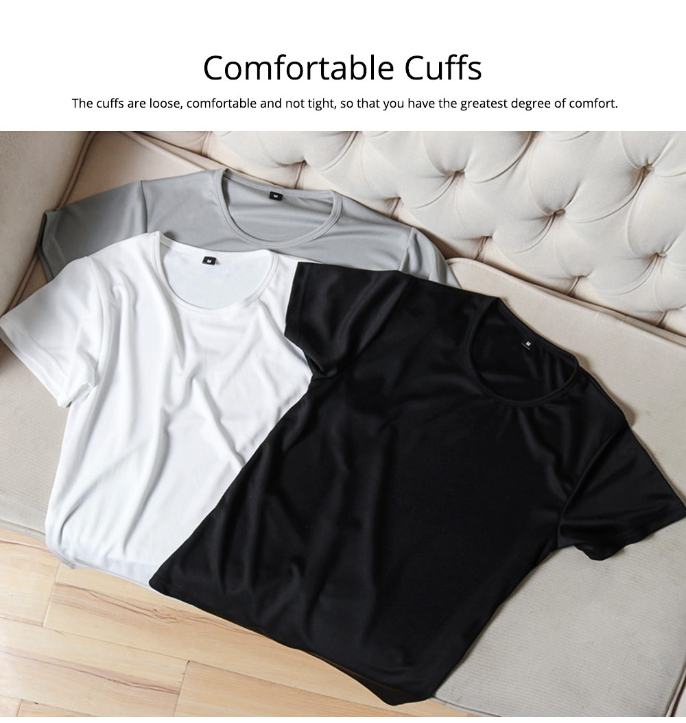 New Men's Short Sleeve T-shirt in Summer of 2019 Creative Waterproof and Antifouling Trend T-shirt 1
