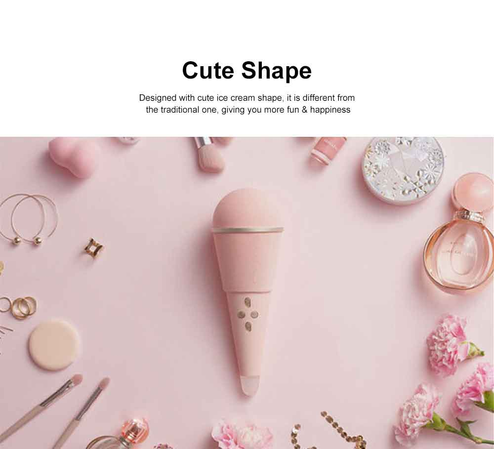 Ice Cream Shape Wireless Microphone Innovative Cute Speaker USB Charge Lightweight Live Microphone 7