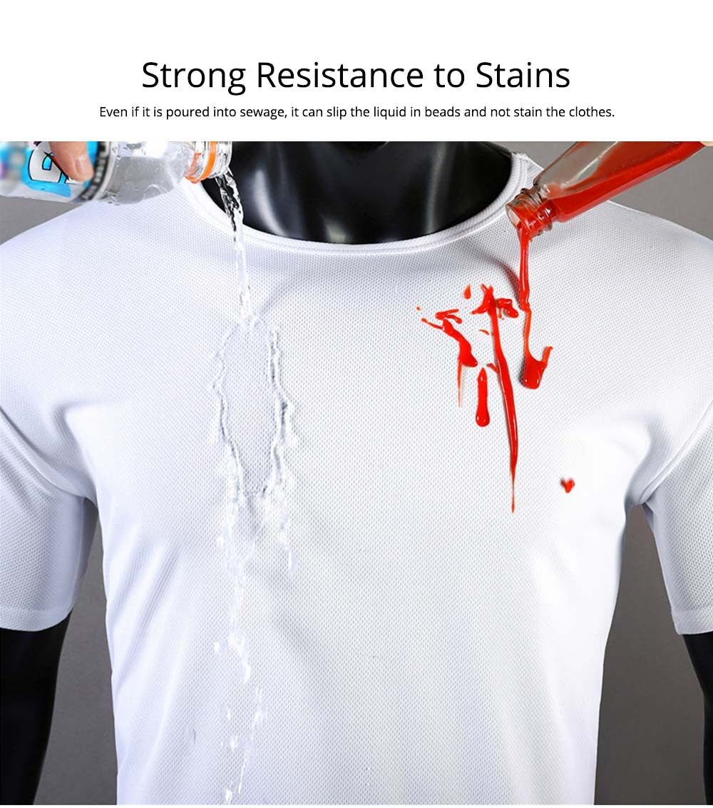 New Men's Short Sleeve T-shirt in Summer of 2019 Creative Waterproof and Antifouling Trend T-shirt 4