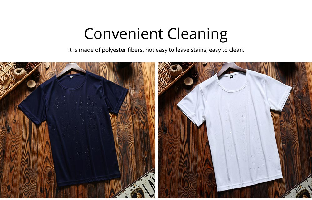New Men's Short Sleeve T-shirt in Summer of 2019 Creative Waterproof and Antifouling Trend T-shirt 6