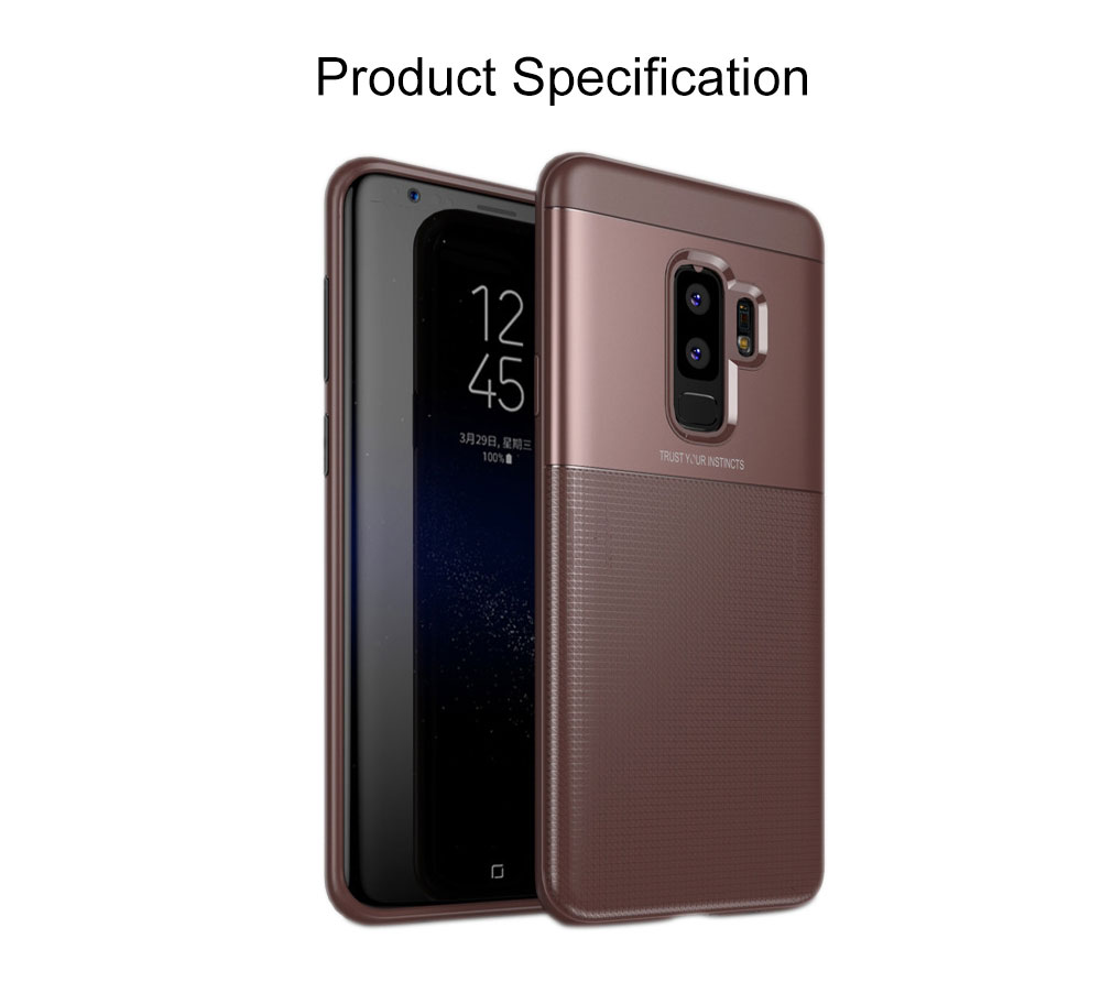 Quality TPU PC Carbon Fiber Sanded Phone Case for Samsung Galaxy S9 plus, Tough Skin-friendly Samsung S9 Mobile Phone Protective Back Cover 7