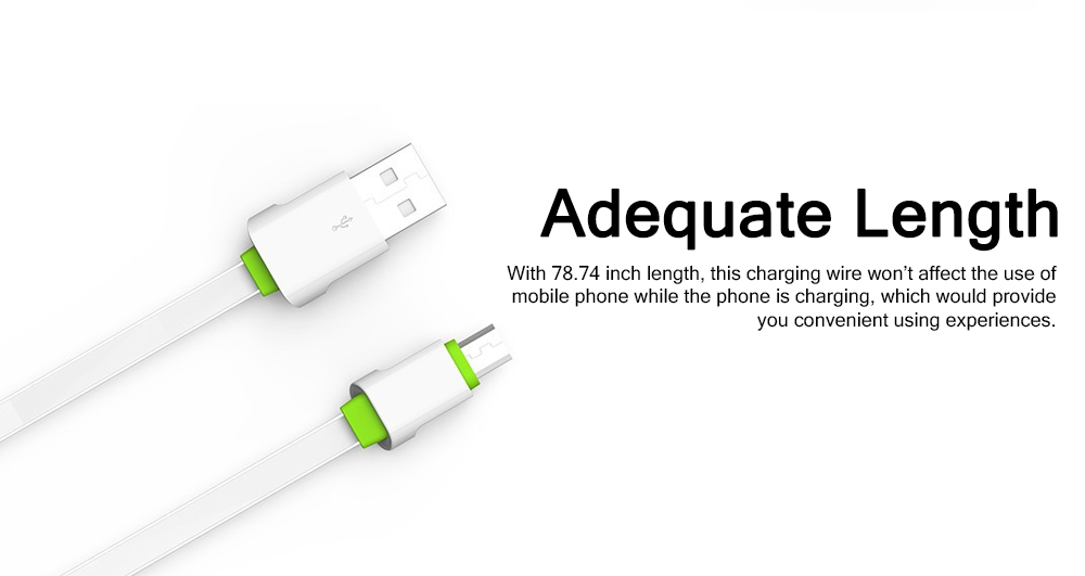2M 2.1A USB Samsung Android iPhone PVC Rubber Fast Charging Line 5