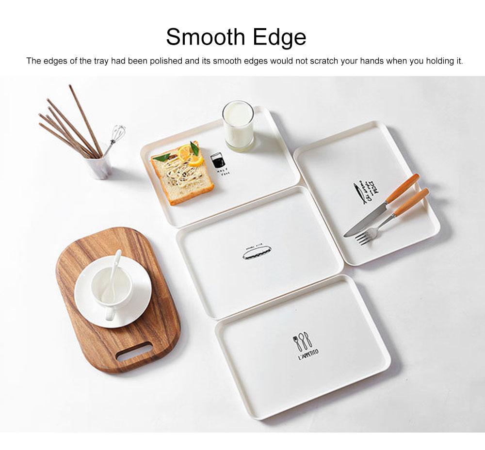 Minimalist Rectangle Household Breakfast Food Tray Breaking-proof PP Tea Bread Drink Decoration Tray 3