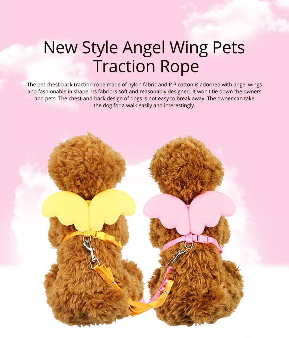 New Style Angel Wing Pets Traction Rope Pet chest strap, Dog Chest Strap Pet Accessories 0
