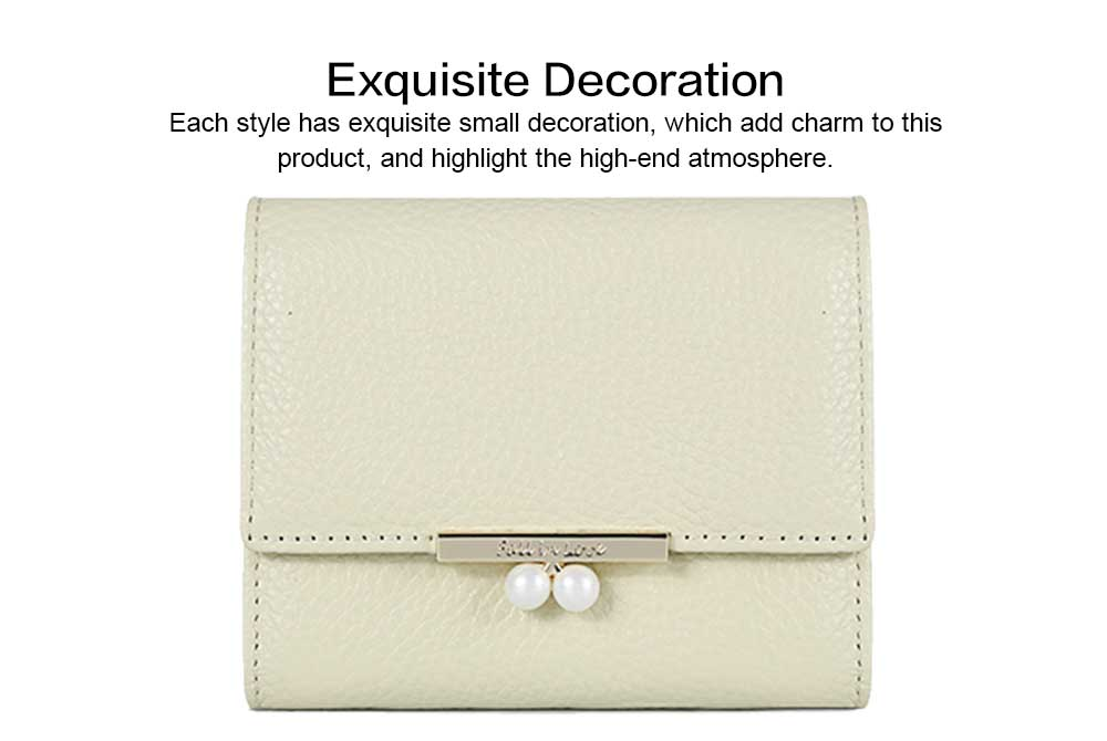 2019 New Designed Women Purse New Designed INS Purse Short-style Fresh Folding Purse for Women Lady Girl 5