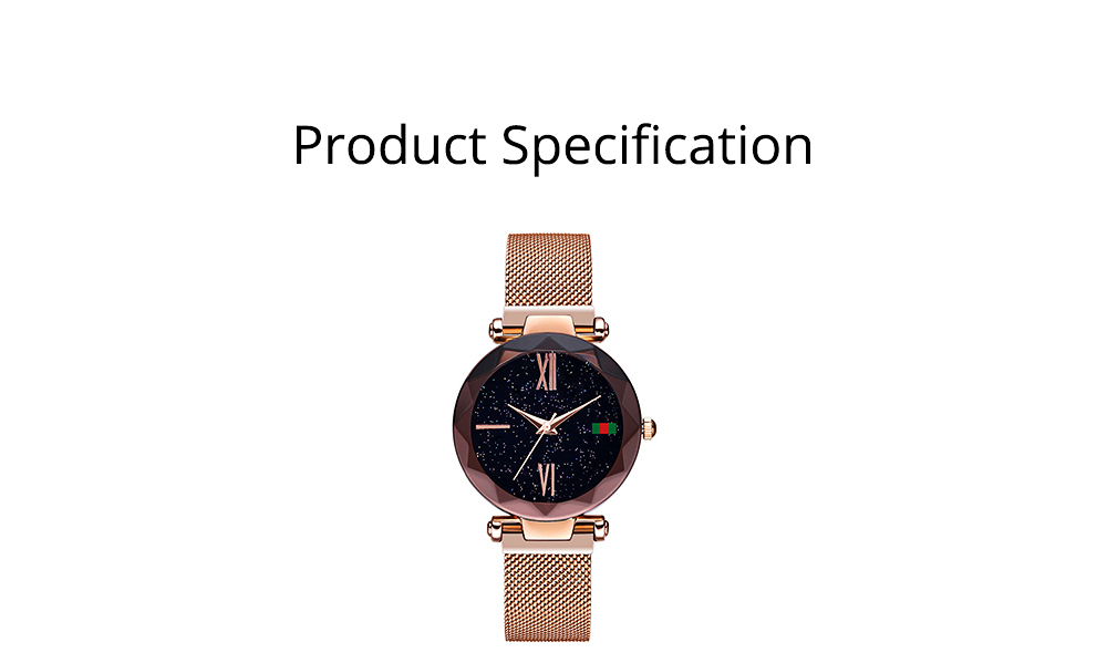 Starry Quartz Watch for Women Glass Dial Magnetic Design Quartz Movement Spiral Decoration Sturdy and Durable Watch 6
