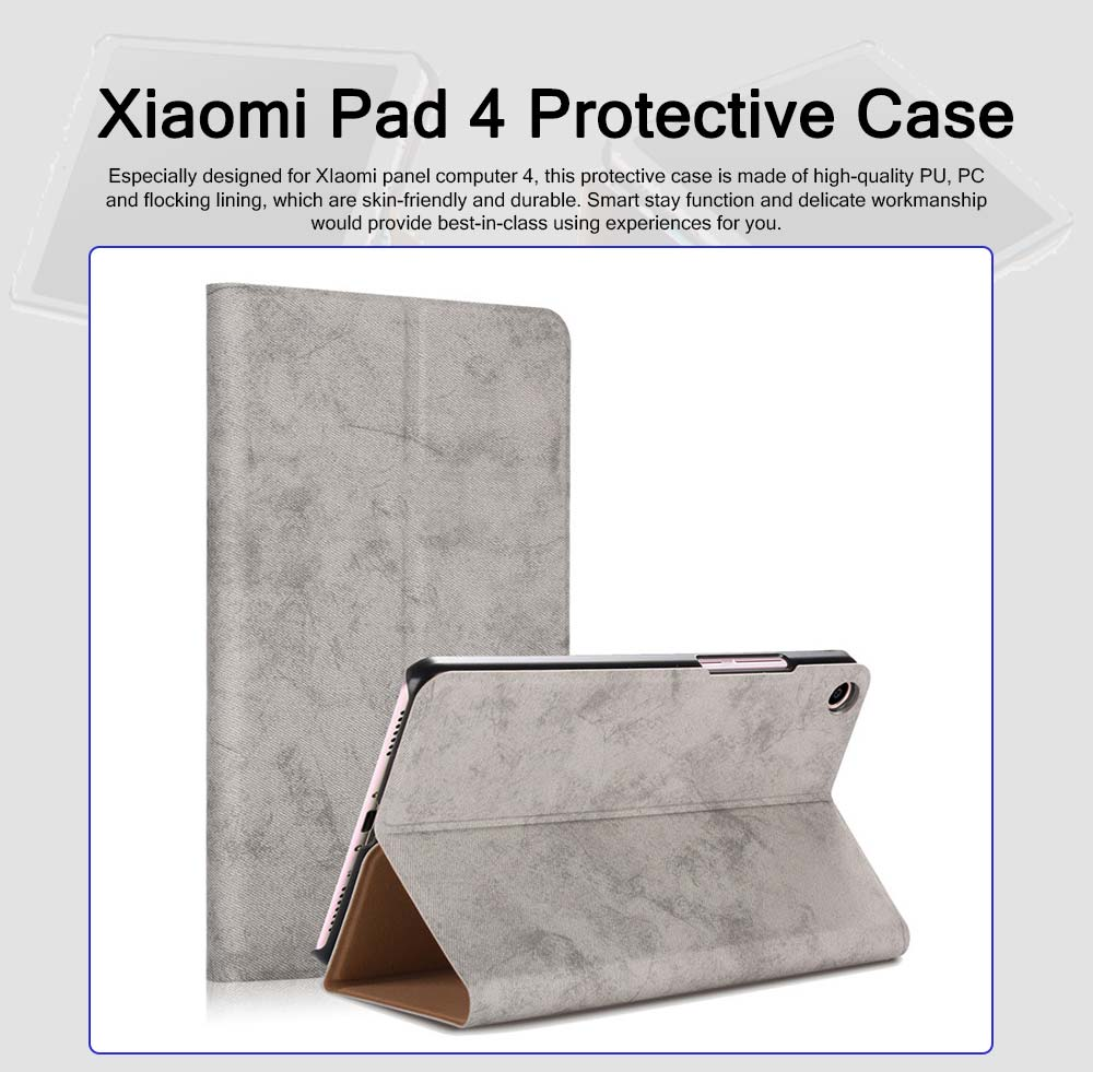 For Xiaomi 4 Protective Case, 8 Inch Xiaomi Pad 4 Smart Flip Protection Cover Holder Auto Sleep Wake Leather Case 0