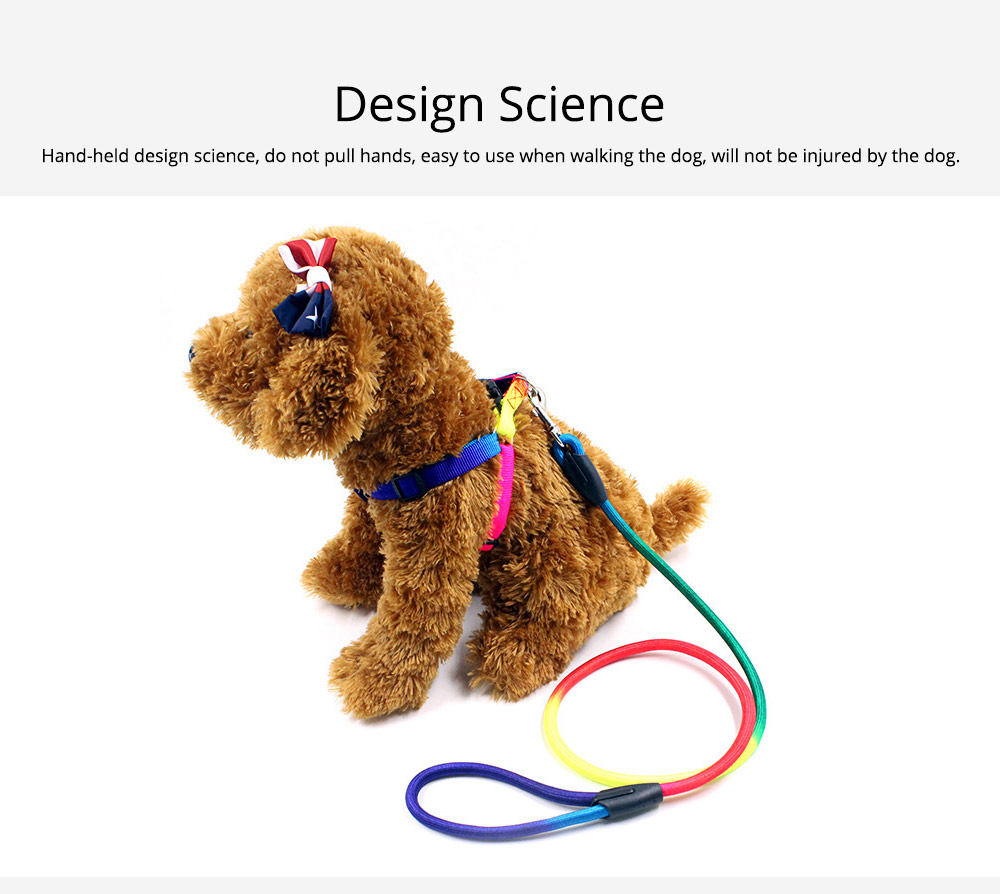 7-colour Chest Back Traction Rope For Dogs Round Dog Chain Pet Products 5