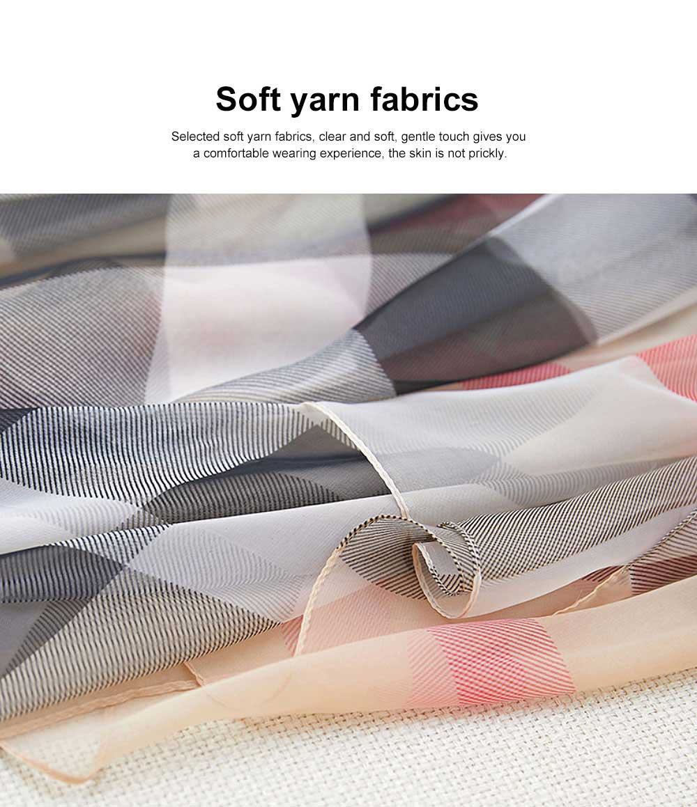 2019 Hot Gradient Grid Pants Scarf, New Sunscreen Scarf Shawl in Spring and Summer for Girl Lady 5