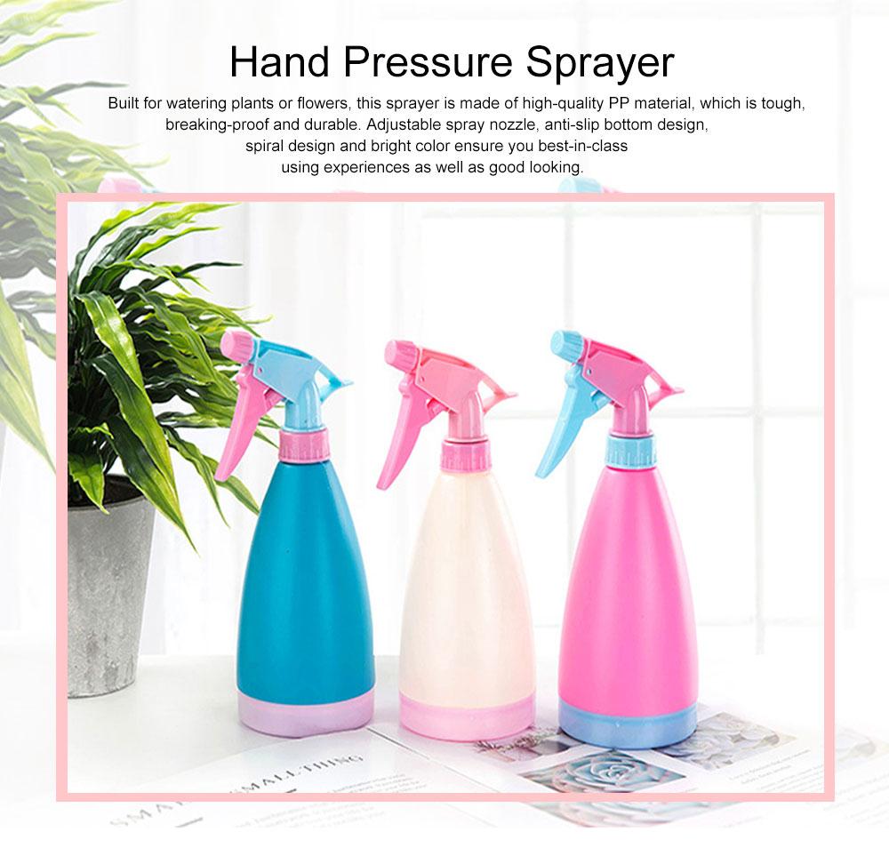 Minimalist Candy Color Gardening Handheld Sprayer, Breaking-proof PP Hand Pressure Pump Watering Trigger Bottle 0