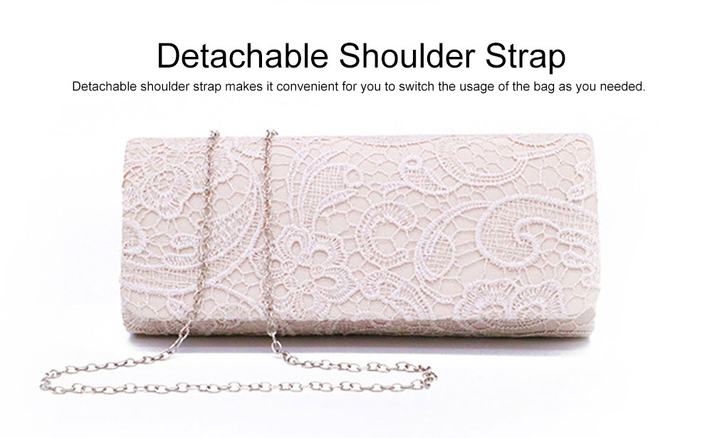 Delicate Elegance Stereo Lace Ladies Shoulder Evening Bag Skin-friendly Stain Polyester Cosmetic Hand Bag for Socialite Women 2