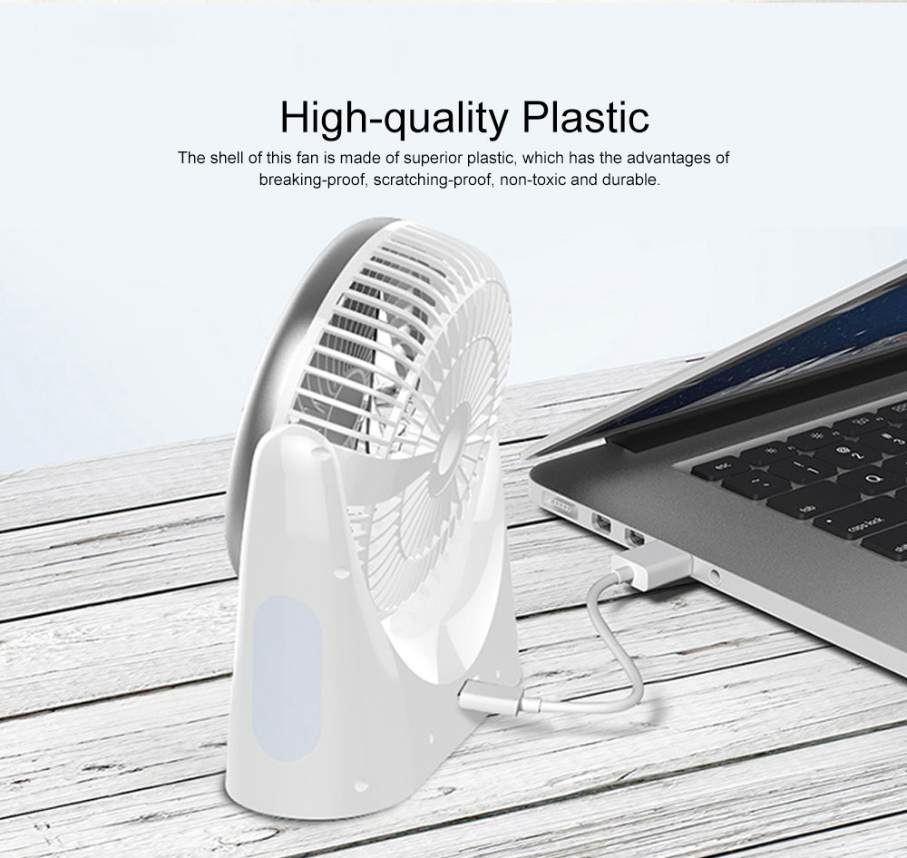 Portable Mini Chargeable Silence Table Cooling Fan Household Office Dormitory Rotation Circulation Fan 1