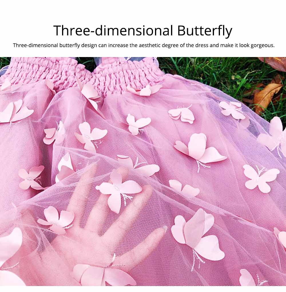 2019 Three-dimensional Lace Butterfly Dress for Girl Summer Party Dress Performance Costume & Butterfly Wings 3