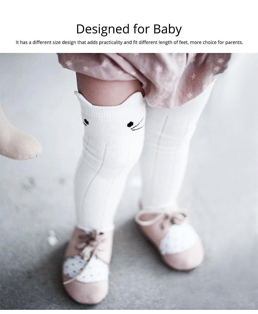 Baby Stockings for 0-3 Years Old Gril, Cute Appearance Pure Color Optional Cotton Fabric Breathable and Skin-friendly Socks 2