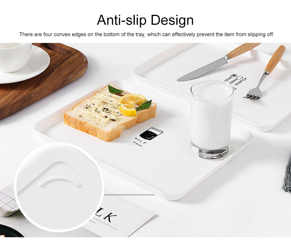Minimalist Rectangle Household Breakfast Food Tray Breaking-proof PP Tea Bread Drink Decoration Tray 4