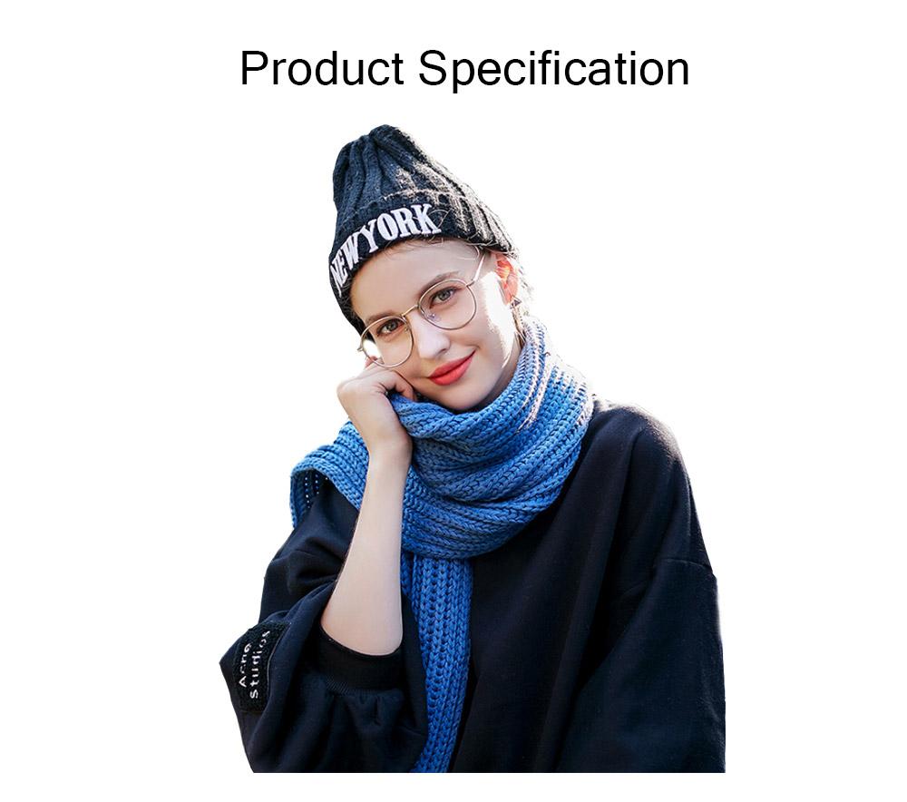 New Wool Scarf Soft Tippet Longitudinal Knitting for Women Men Keep Warm Skin-friendly Muffler Winter 9