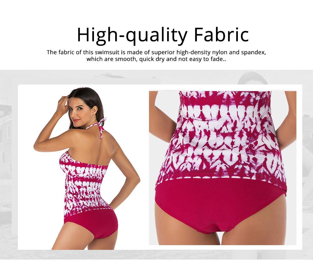 Fancy Sexy Painting Separates Adjustable Strap Swimsuit Bikini Stylish Triangle Swim Briefs Ladies Bikini 1
