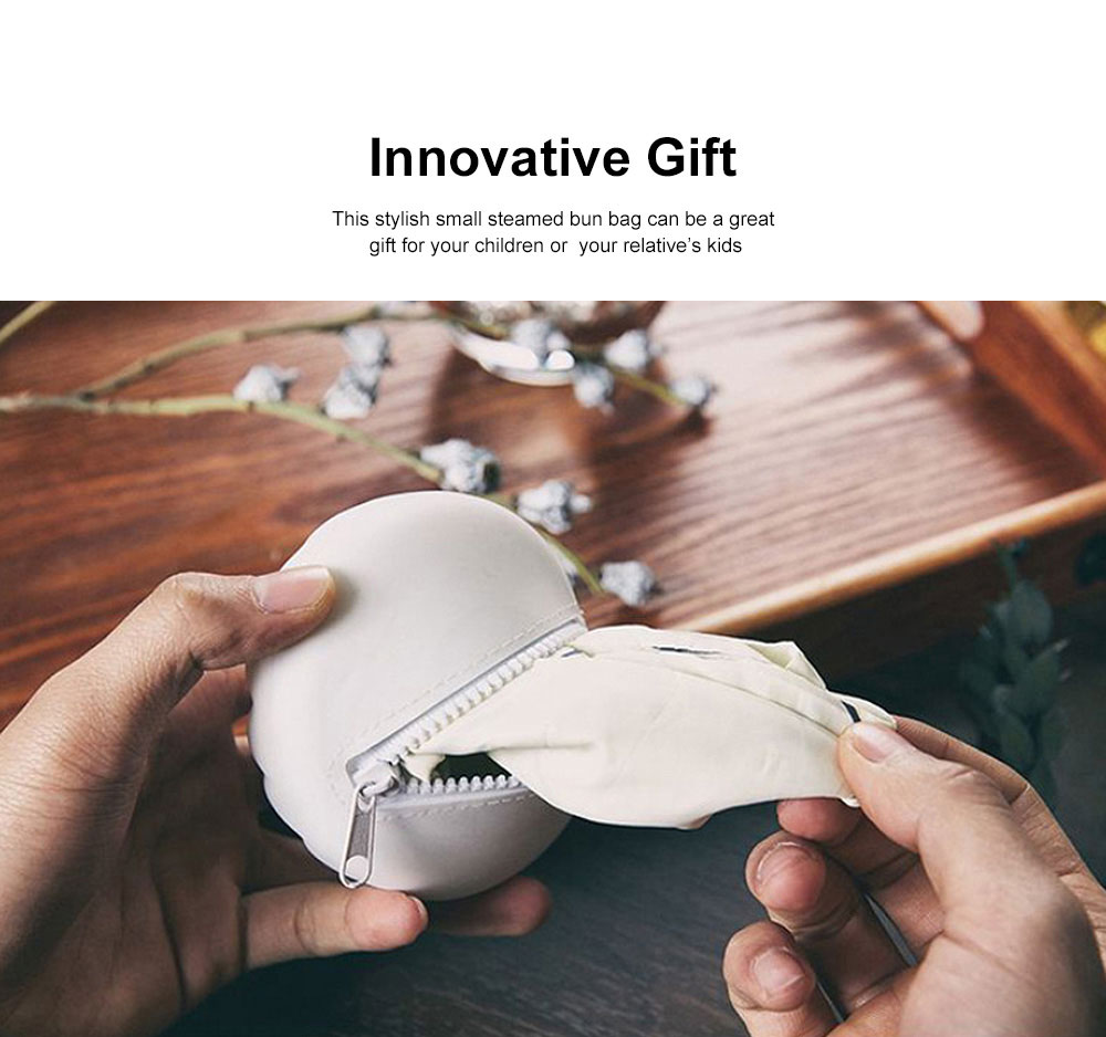 Innovative Mini Storage Bag Silicone Portable Small Steamed bun-Shape Purse Chinese Style Small Gift 1