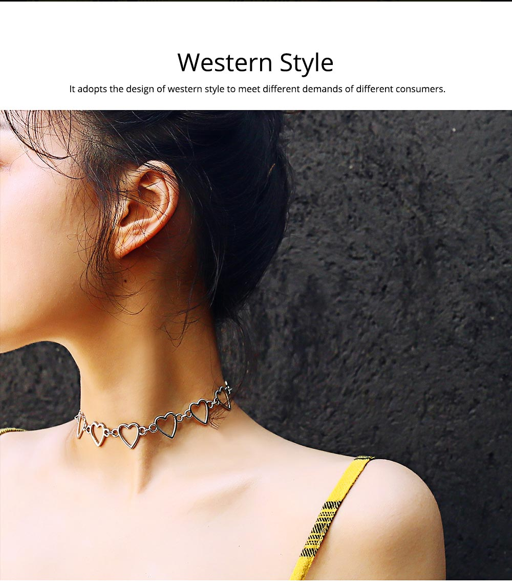Stylish Heart-shaped Necklace for Women Adjustable Geometric Ornament 1