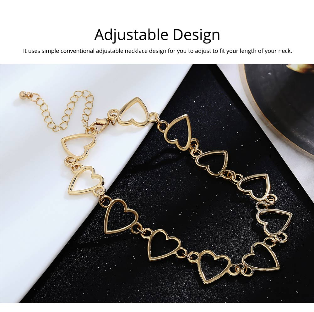 Stylish Heart-shaped Necklace for Women Adjustable Geometric Ornament 4