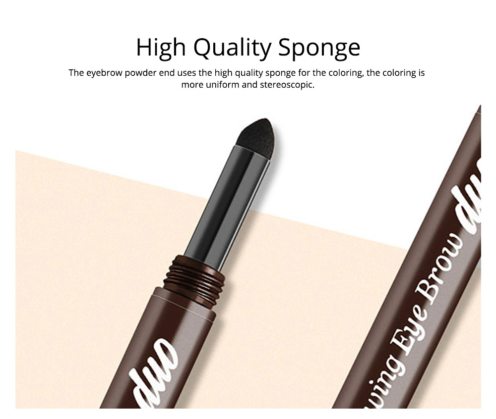 2 In 1 Eyebrow Pencil And Eyebrow Powder, Eyebrow Pencil Powder With Automatic Rotation Waterproof And Sweat-proof 4