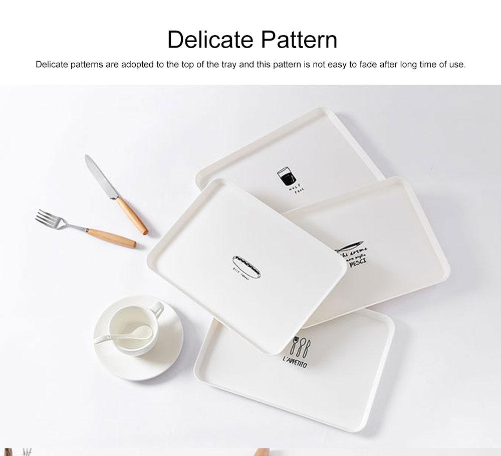Minimalist Rectangle Household Breakfast Food Tray Breaking-proof PP Tea Bread Drink Decoration Tray 5